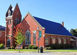 National Register of Historic Places listings in Lincoln County, North Carolina - Image: Emmanuel United Church of Christ, 329 E. Main St., Lincolnton, NC