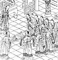 Emperor Shun performs divination in the palace.jpg