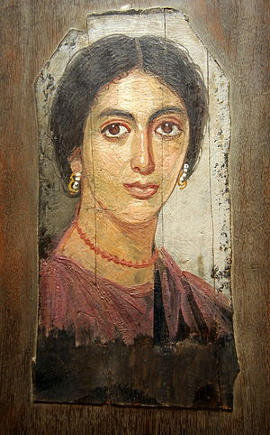 Encaustic painting - Fayum mummy portrait