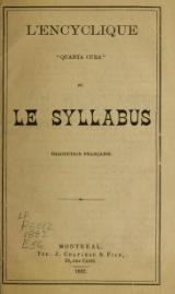 Encyclique Quanta Cura et Syllabus, traduction francaise Montreal 1882.djvu