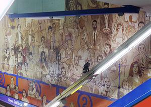 Estacion de Reyes Catolicos-mural-Sanse2
