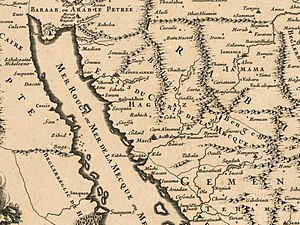Sharifate of Mecca - 1695 map of the Sharifate of Mecca