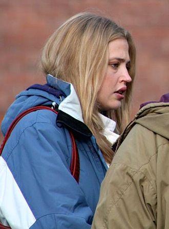 Estella Warren - Warren shooting the film Blue Seduction in November 2008.