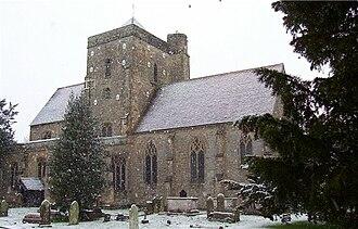 Etchingham - The parish church in snow