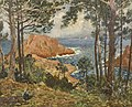 Eugène CHIGOT (1860 - 1923) - Les roches rouges - Oil canvas c 1890.jpg
