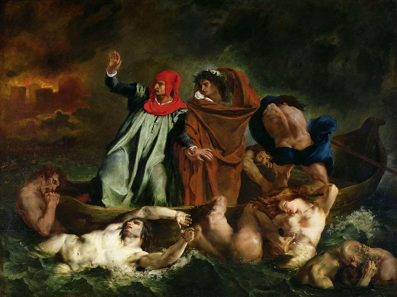 File:Eugène Delacroix - The Barque of Dante jpg - Wikimedia