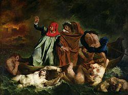 Eugène Delacroix: La barca de Dante