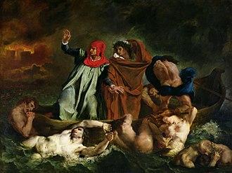 The Barque of Dante - Image: Eugène Delacroix The Barque of Dante
