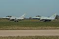 Eurofighter Typhoons ZJ815 BN & ZK327 QO-D depart (7042395607).jpg