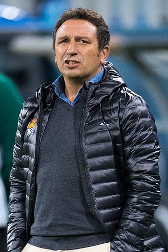 Eusebio Sacristán - Eusebio managing Real Sociedad in 2017