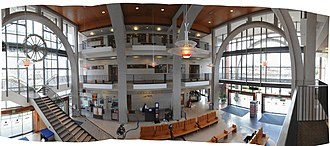 Everett Station - Image: Everett Station interior pano 01