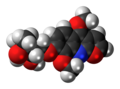 Evoxine molecule spacefill.png
