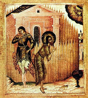 Beheading of St John the Baptist - Icon of the Beheading of John the Baptist (Museum of Icons, Recklinghausen)