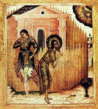 Beheading of John the Baptist - Icon of the Beheading of John the Baptist (Museum of Icons, Recklinghausen)