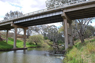 Werribee River river to the west of Melbourne, Victoria, Australia