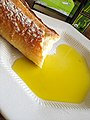 Extra virgin olive oil and bread baguette (17303095818).jpg
