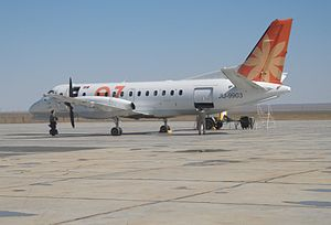 Eznis Airways - Eznis Airways Saab 340B at Dalanzadgad Airport