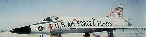George Air Force Base - Convair F-102A-75-CO Delta Dagger AF Serial No. 56-1396 of the 327 FIS.