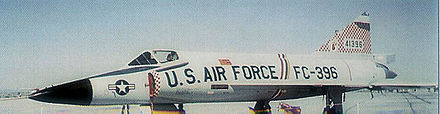 Convair F-102A-75-CO Delta Dagger AF Serial No. 56-1396 of the 327 FIS. - George Air Force Base