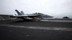 Файл:F-18 taking off from Nimitz (Video).ogv