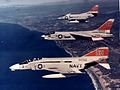 F-4A F-8C and A-4B of VC-7 in flight c1968.jpg