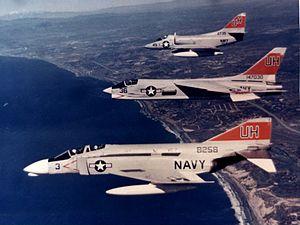 VC-7 - Image: F 4A F 8C and A 4B of VC 7 in flight c 1968