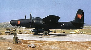 Grumman F7F Tigercat - An F7F-3N of VMF(N)-513 at Wonsan, Korea, in 1952.