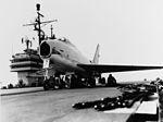 FJ-4 Fury on catapult of USS Forrestal (CVA-59) in April 1956.jpg