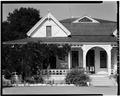 FRONT PORCH AND GABLE - Villa Miramonte, 17860 North Monterey Road, Morgan Hill, Santa Clara County, CA HABS CAL,43-MORHI,3-5.tif