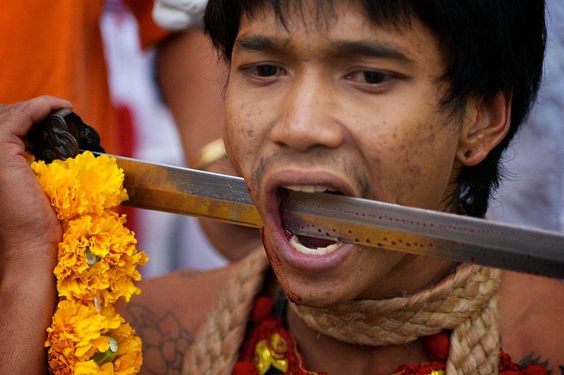 File:Face Piercing Phuket Vegetarian Festival 24.jpg