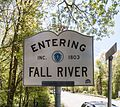 Fall River town line sign, Massachusetts.jpg