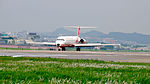 Far Eastern Air Transport MD-82 B-28017 Arrival to Taipei Songshan Airport 20150427a.jpg