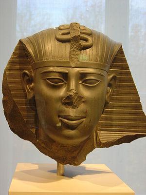 Amasis II - A fragmentary statue head of Amasis II