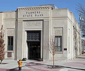 National Register of Historic Places listings in Morgan County, Colorado - Image: Farmers State Bank Building