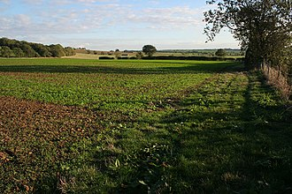 Caythorpe, Lincolnshire - Image: Farmland off Gorse Hill Lane geograph.org.uk 256862