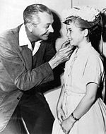 jim with daughter kathy 1957 - Father Knows Best Home For Christmas 1977