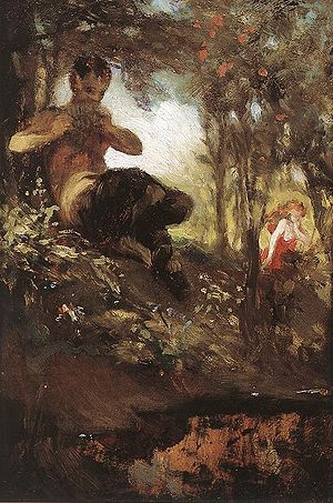 Faun - A faun, as painted by Hungarian painter Pál Szinyei Merse