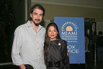 Amador (film) - Director Fernando León de Aranoa and actor Magaly Solier at the 2011 Miami International Film Festival screening of Amador