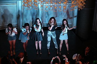 Camila Cabello - Cabello (right) with Fifth Harmony in 2013