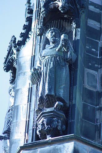 Friar Tuck - Figure of Friar Tuck, Scott Monument, Edinburgh, by George Clark Stanton