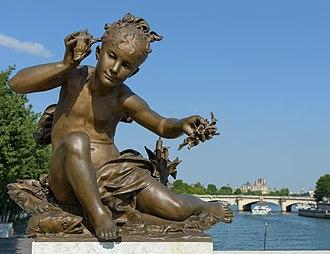 "Léopold Morice - ""Girl with Shell"" - Pont Alexandre-III, Paris"