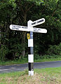 Fingerpost at Theydon Mount Essex England.JPG