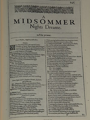 Photo of the first page of A Midsummer Night's...