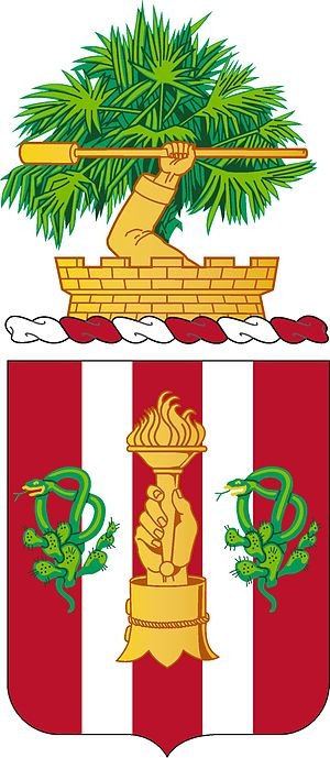 1st Air Defense Artillery Regiment - Coat of arms