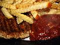 Flickr - cyclonebill - Kylling med salsa og pommes frites.jpg