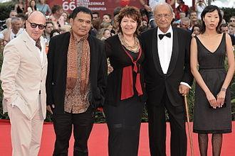 Pere Portabella - Portabella (second from right) at the 66th Venice Film Festival
