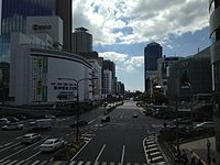 Flower Road in front of Sannomiya Station.JPG