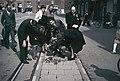 Flowers where the freedomfighter, police officer Kaj Hedal was shot. Nytorv at Strøget (the pedestrian street) in Copenhagen. Photo Jørgen Nielsen.jpg