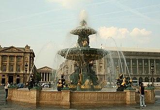 Fontaines de la Concorde - Fountain of River Commerce and Navigation
