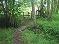 Footbridge and Stile in Honeywood Rough - geograph.org.uk - 1325677.jpg